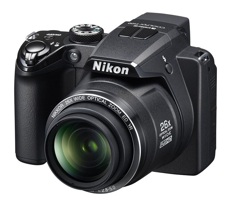 Digital Camera Nikon Coolpix P100 10 MegaPixel 26 X Optical Zoom Black
