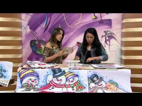 Mulher.com - 19/11/2016 - Pintura em tecido - Lilinha Silva P1