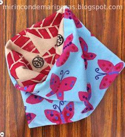Coser una braga para el cuello. Muy bien explicadito. Se hace en un momento #costura #niños mi rincón de mariposas: Cómo coser un buff (braga para el cuello) reversible