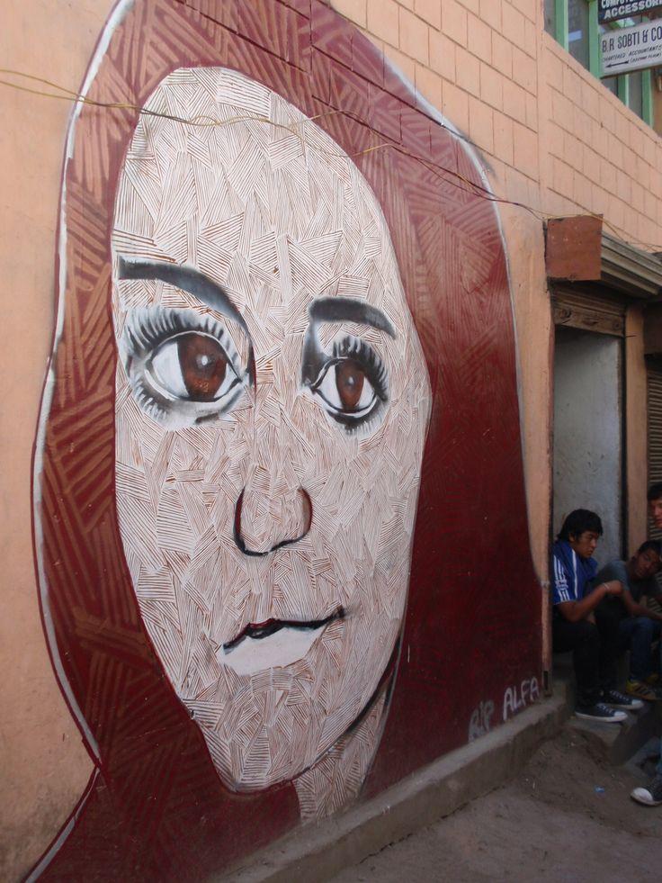 Mural in Leh
