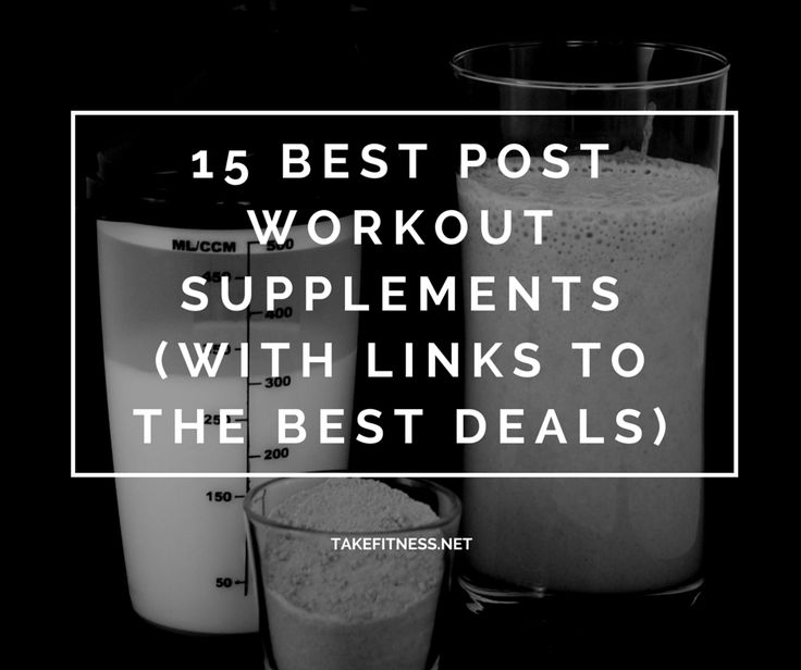 15 Best Post Workout Supplements (With Links to the Best Deals) #fitness #supplements #nutrition #workouts