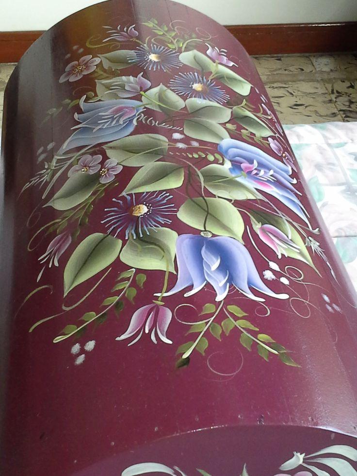 Pintura sobre madera.