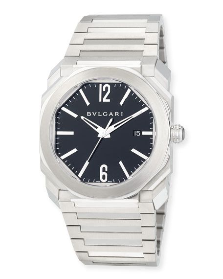 1396013d2b3 BVLGARI 41mm Stainless Steel Octo Solotempo Watch