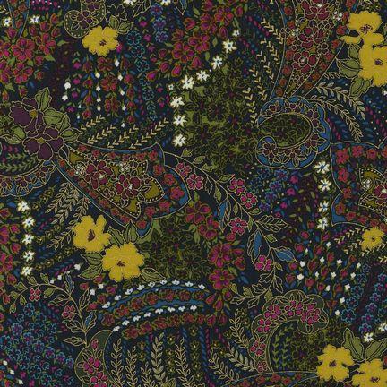 Robert Kaufman Fabrics: EDJM-6501-201 JEWEL from Bohemian Rhapsody