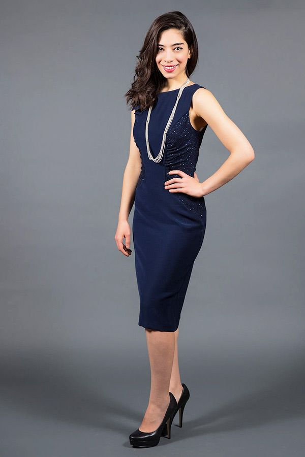 Cocktail Dress With Sequin Detailing