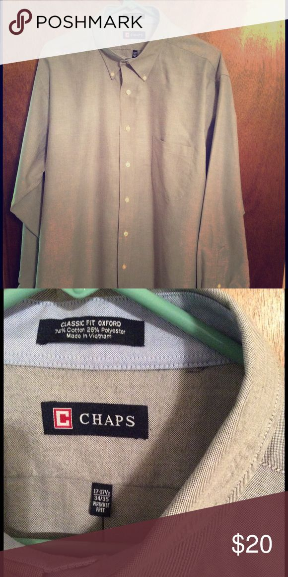 Ralph Lauren Chaps shirt Gray Oxford shirt in perfect condition and hardly worn.  Has button-down collar. Chaps Shirts Dress Shirts
