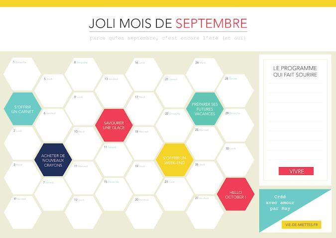 Organisateur mensuel (septembre) | Monthly organiser (september)
