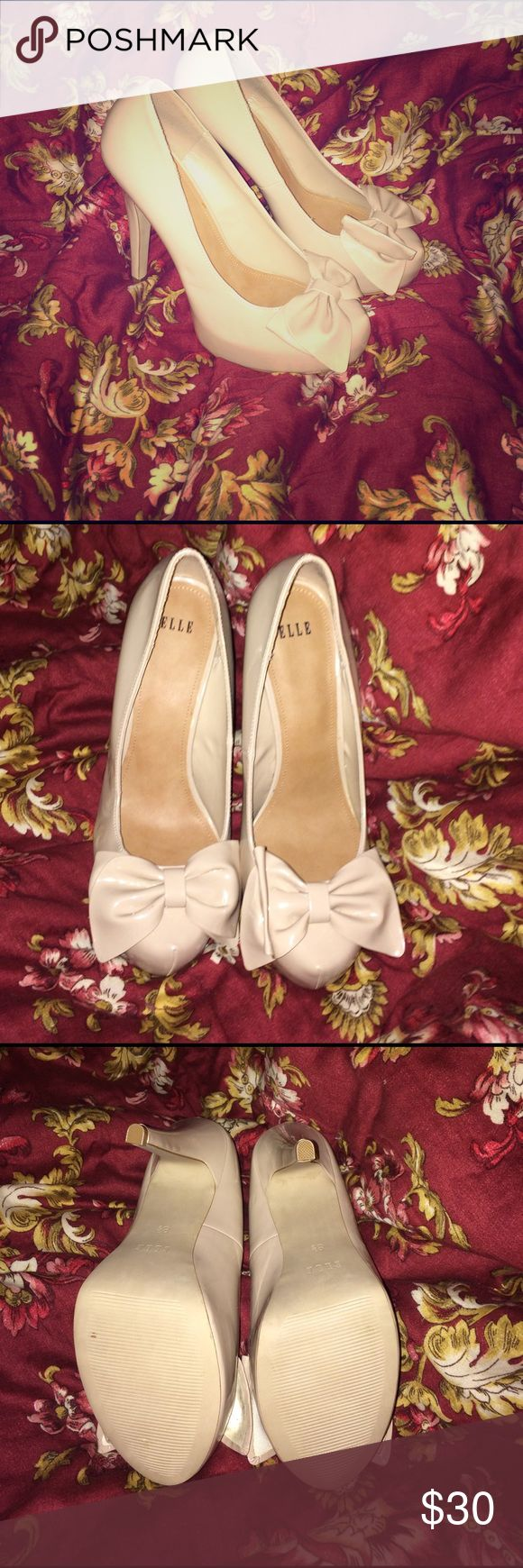 Nude Elle high heels nude colored ELLE high heels never worn outside, only around the house Elle Shoes Heels
