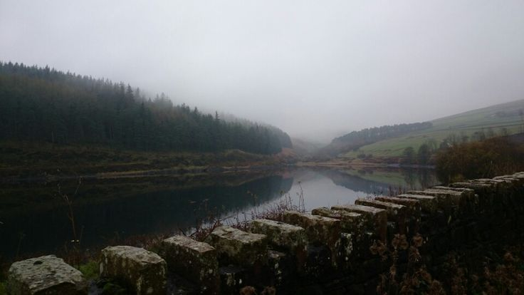 Ogden Reservoir, Pendle, looking moody, misty and mysterious.