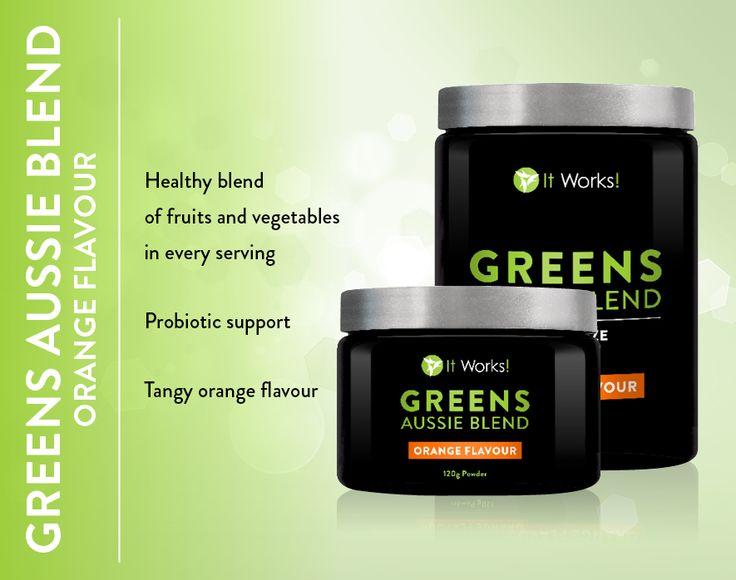 Greens Aussie Blend Orange Blend- Healthy blend of Fruit and Vegetables in every serve