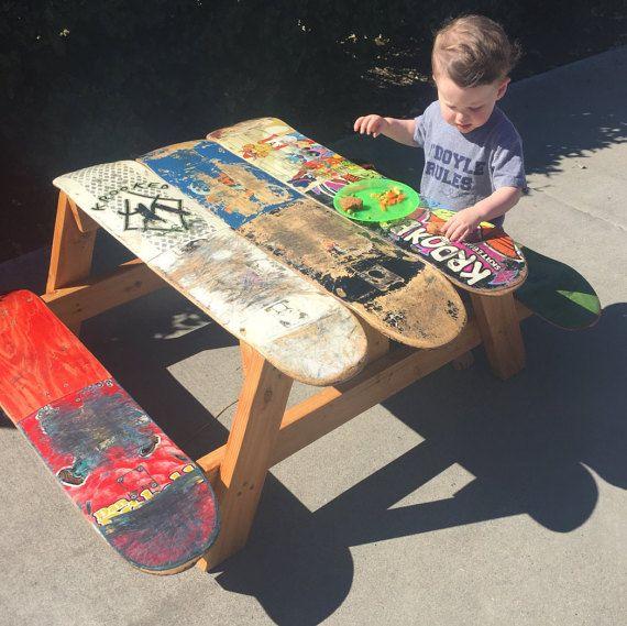 Best 10 kids outdoor furniture ideas on pinterest for Skateboard chair plans