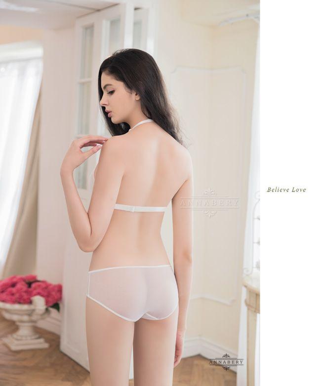 666343dbf5 Underwired Bra Set-Non-Padded-Annabery Lingerie -- Pure white love!Beauty  romantic embroidery No pad Rims underwear Bra set