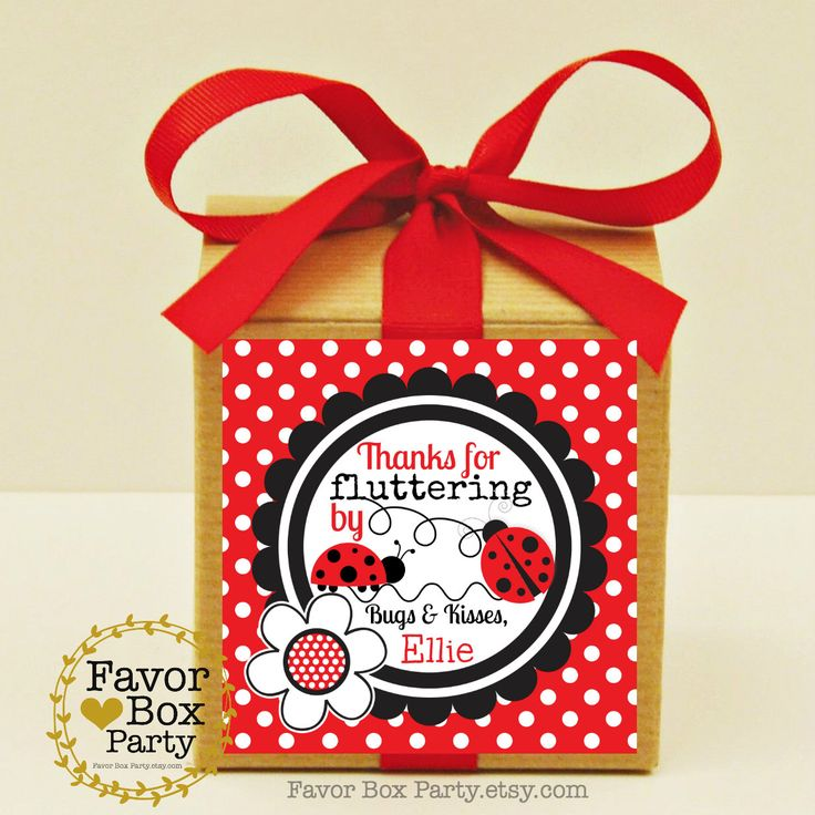 LADYBUG Party Favors, 12 Favor Boxes, Ribbon and Personalized Labels, Ladybug Birthday Favors,Ladybug Baby Shower, Ladybug Party Favor Box by FavorBoxParty on Etsy https://www.etsy.com/listing/269573219/ladybug-party-favors-12-favor-boxes