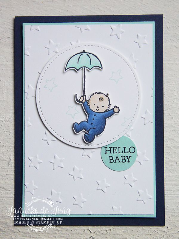 Stampin' Up! - Happy Stampin' - Janneke de Jong - Moon Baby