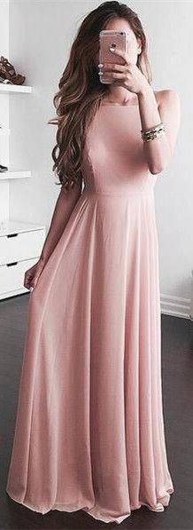 2017 prom dresses, long prom dresses, pink prom dress, simple prom dresses, cheap prom dresses under 100