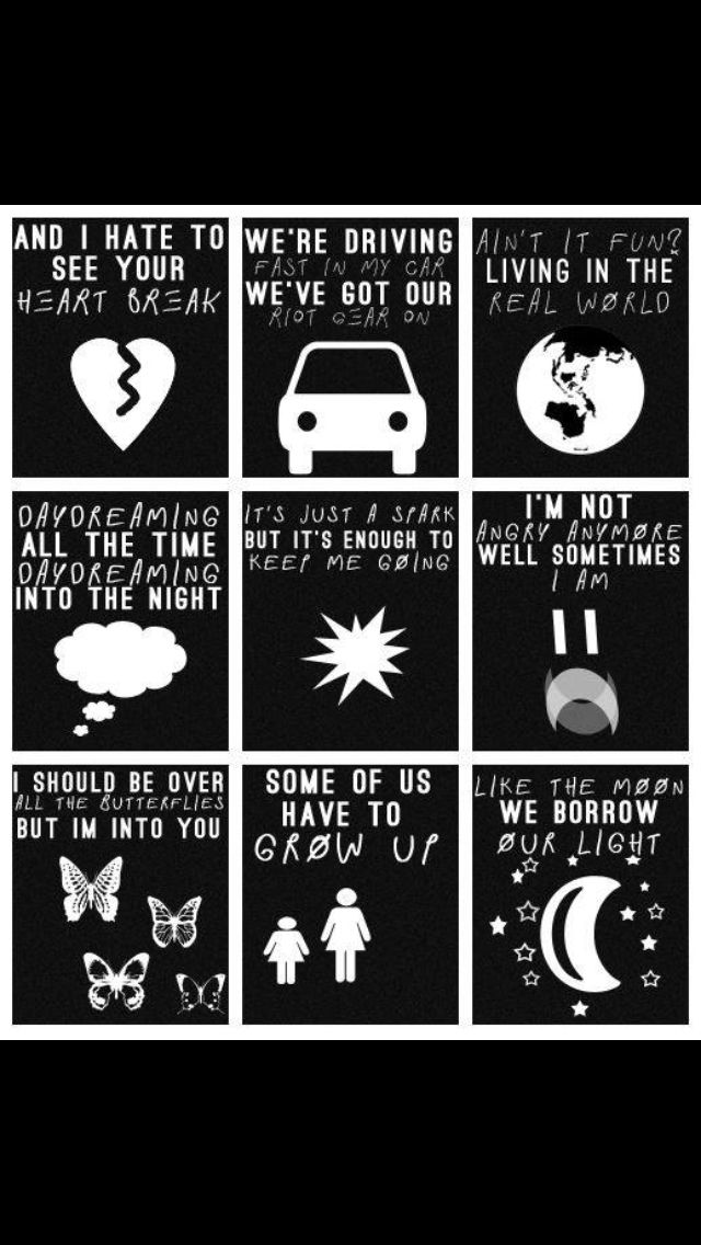 Paramore's Song.  Hate To See Your Heart Break, Fast In  My Car, Ain't It Fun, Last  Hope, I'm Not Angry Anymore, Still Into You, Grow Up, Part 2. ♬