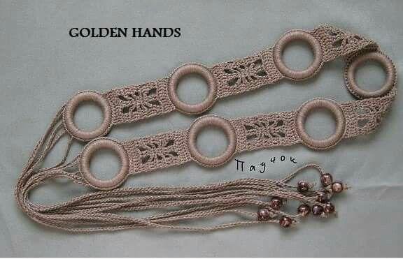 Cinturon con anillas de plastico