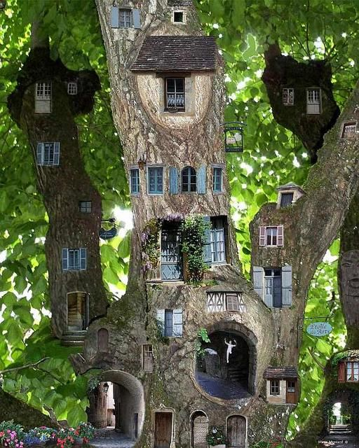 I want a tree like this by Marie Montard but I'll settle for a puppet stage like this