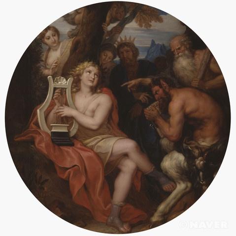 이 작품은 그랑 트리아농을 장식했던 작품 중 하나이다. 루이 14세는 수많은 궁정 인사들로부터 방해를 받지 않고, 베르사이유의 허영과 허식으로부터 몸을 피해 휴식을 취할 수 있는 사적인 공간을 마련하기 위하여, 1686년에 도자기 타일로 장식되어 있던 트리아농 궁을 철거하고 그 자리에 대리석으로 된 그랑 트리아농을 짓도록 했다. 완공 직후인 1688년부터 궁 장식을 위한 여러 회화 작품 제작이 화가들에게 의뢰되었으나, 1689년에 발발한 아우크스부르크 동맹 전쟁 때문에 그 제작이 중단되기도 했다.