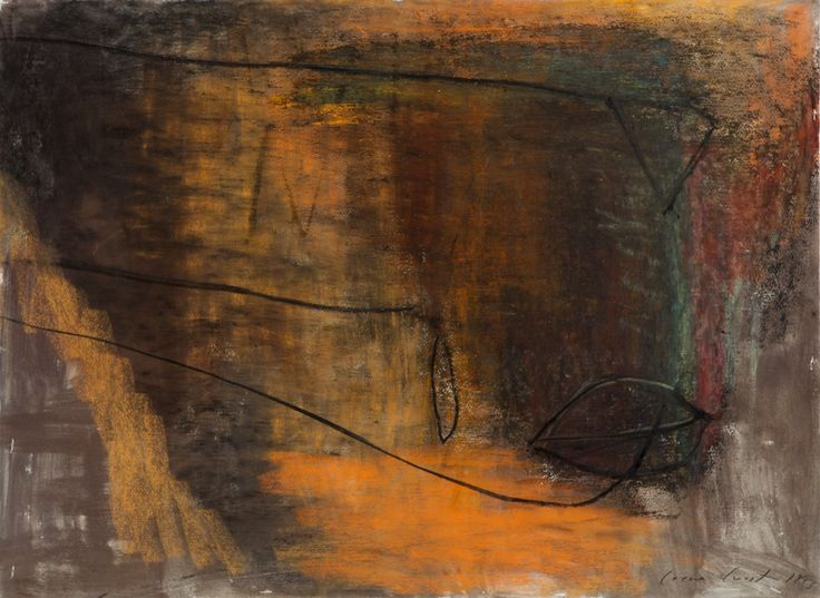 Leena Luostarinen: Sommitelma, 1993, pastelli, 57x76 cm - Hagelstam K133