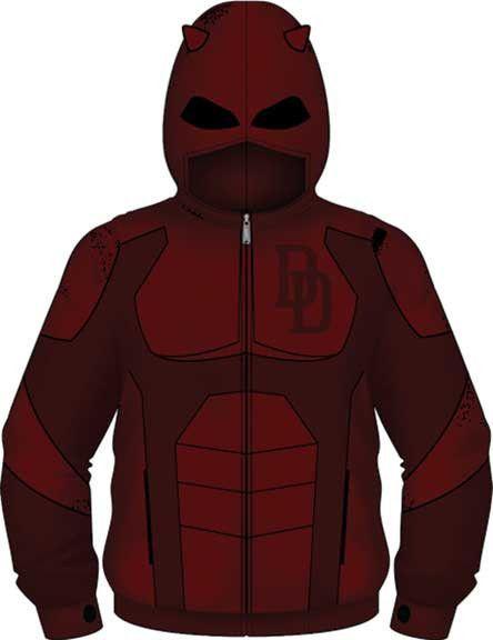Daredevil Marvel Comics Costume Zip up Hoodie Jacket Shirt