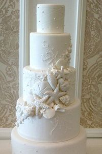 Vanilla Bake Shop - seashell wedding cake