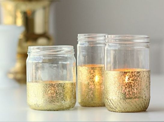 Transform An Empty Jar With A Sprinkle Of Glitter