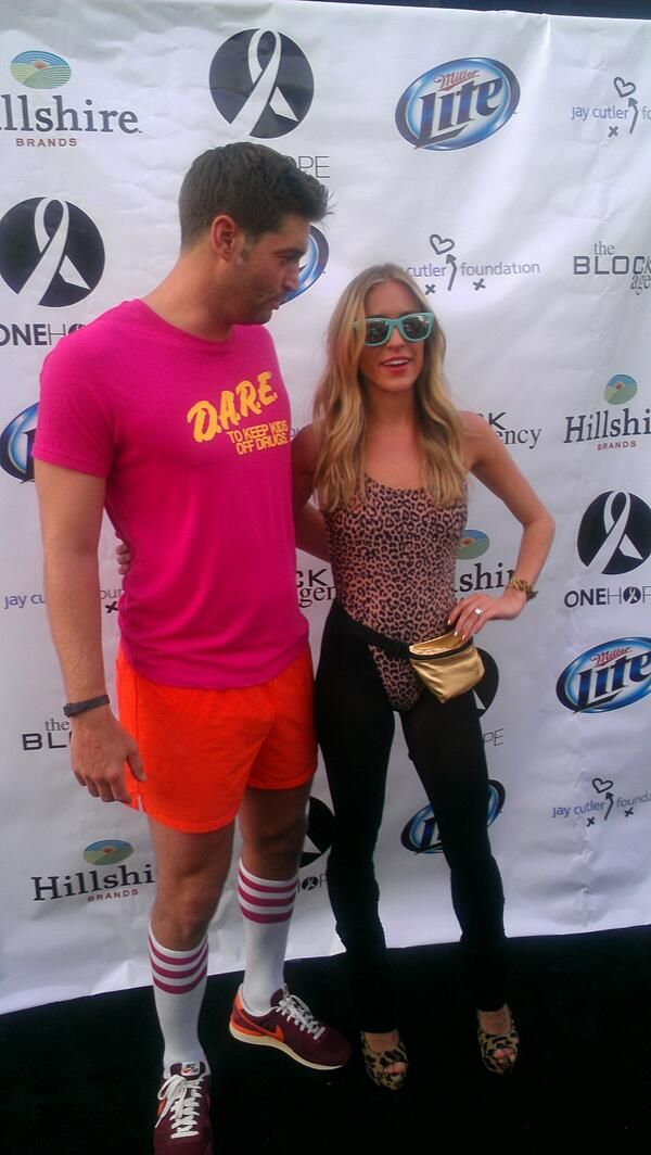 GAG ME WITH A SPOON: JAY CUTLER, KRISTIN CAVALLARI GO '80S FOR BENEFIT (PIC/VID)