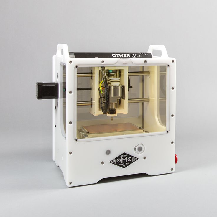 The Othermill is a highly precise, compact, and easy-to-use desktop CNC mill that's quiet and light enough for use in the office, workshop, or classroom. It produces professional-quality work in minutes in a variety of materials, including metals, woods, waxes, plastics, and printed circuit boards.
