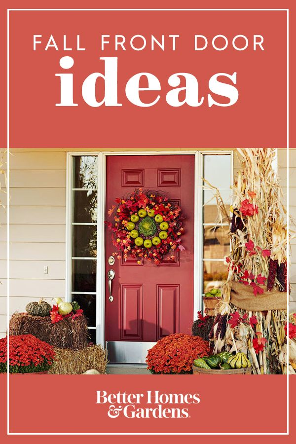 21 Ideas For Your Prettiest Fall Front Door Ever Autumn Decorating Front Porch Decorating Fall Decor Inspiration