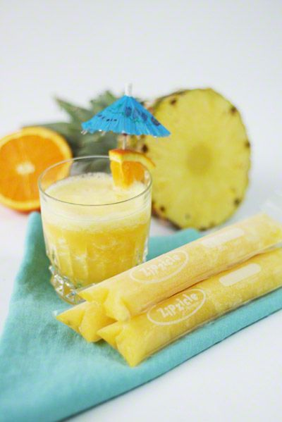 Pineapple Orange Zipzicle® Ice Pop - More ideas at zipzicles.comIce ...