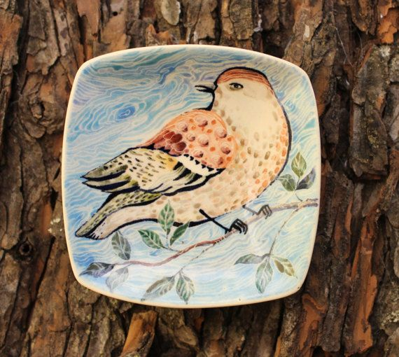 Hey, I found this really awesome Etsy listing at https://www.etsy.com/ru/listing/501314892/plate-decorative-bird