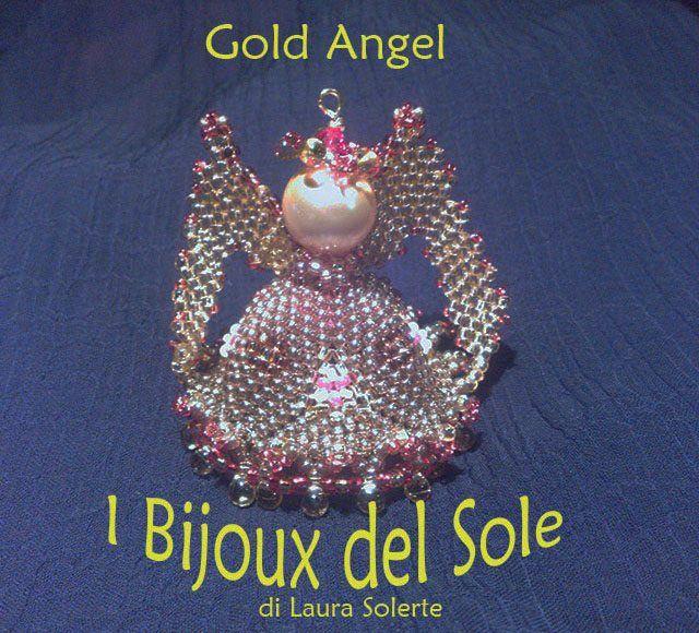 """Laura Solerte: Ciondolo """" Gold Angel"""""""