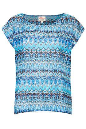 **Aqua Slub Knit Top by Annie Greenabelle - Brands at Topshop - Tops - Clothing