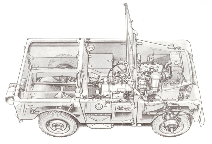 Cut-away drawing of late pre-production 80""