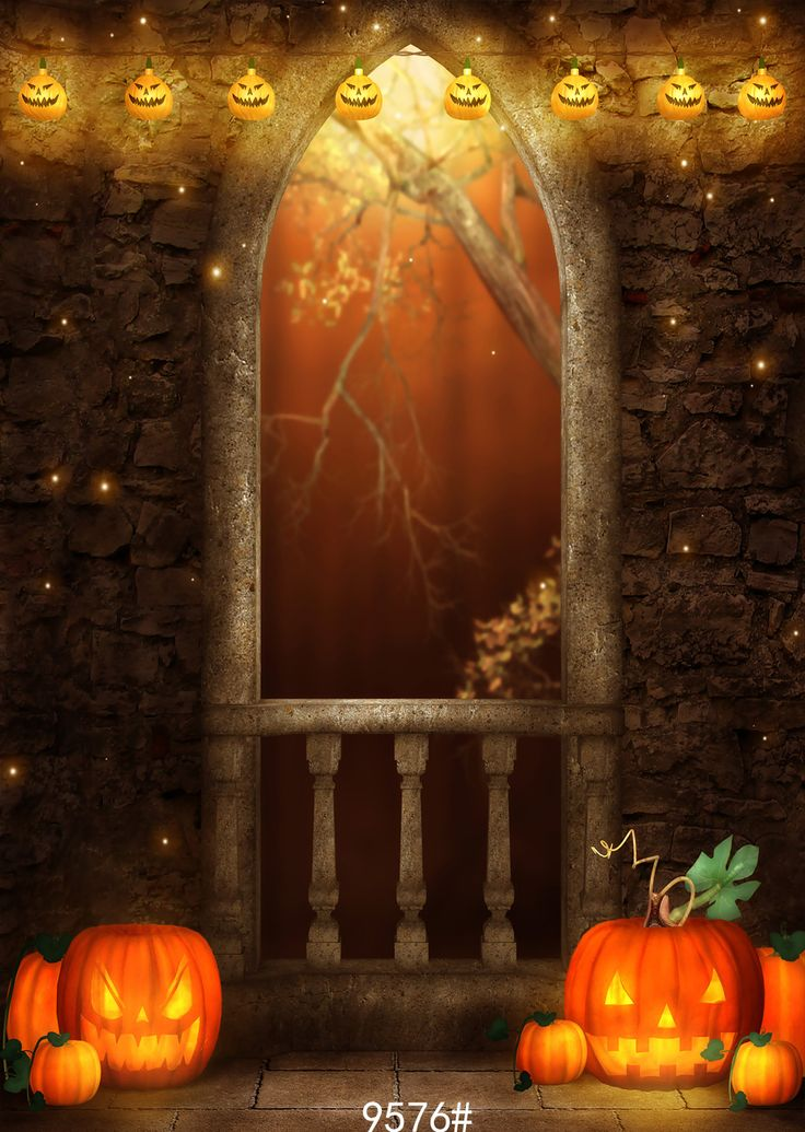 from china photo background suppliers halloween photo background arch window moon pumpkin backdrops halloween photography studio backgrounds vinyl - Halloween Backdrop