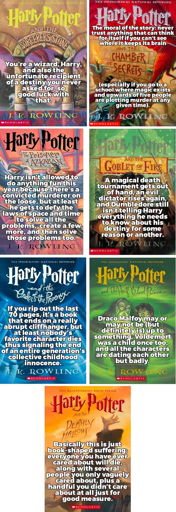 Every Harry Potter Book Summed Up in a Single Sentence. http://community.sparknotes.com/2017/11/24/every-harry-potter-book-summed-up-in-a-single-sentence/slide/1