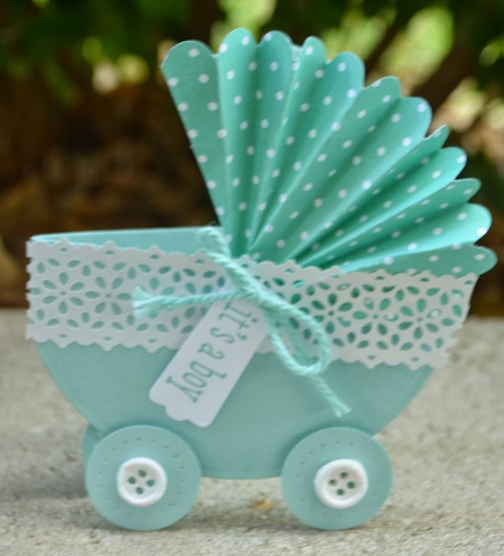 Christie's Creative Corner: Fancy Pram Baby Shower Card