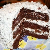 Milk Chocolate Bar Cake Recipe - This is a Rich, Decadent Triple-Layer Cake! The treat is in the chopped chocolate bars that you can taste in every bite. YUM!