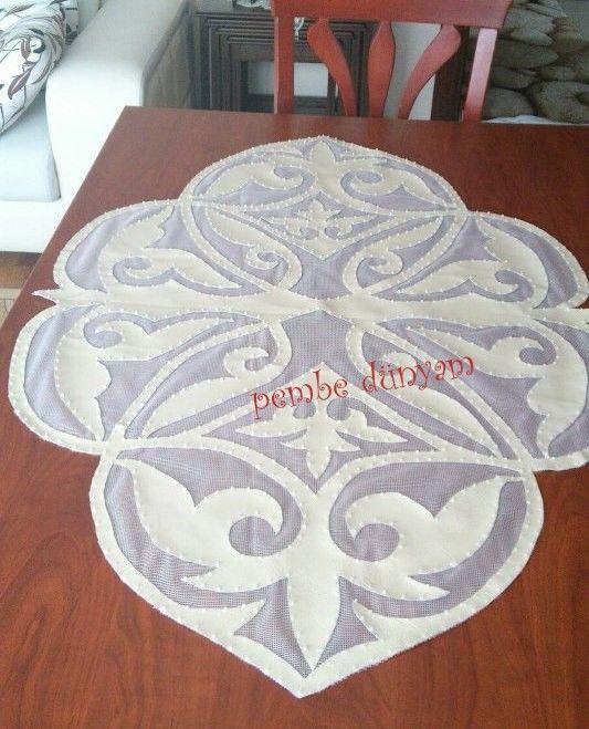 Deri masa ortusu *Deriye hayır!!! doğal tekstil kumaştan yapılanı tercih edelim!!!