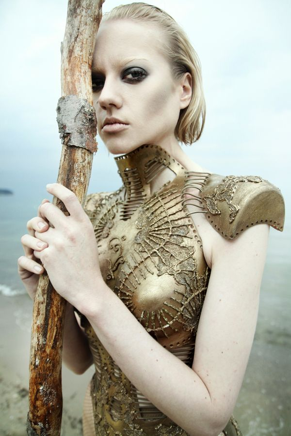OTHER PLANET by KATARZYNA STACH by INSIDE brackets , via Behance #fashion #editorial #warrior #gold #corset