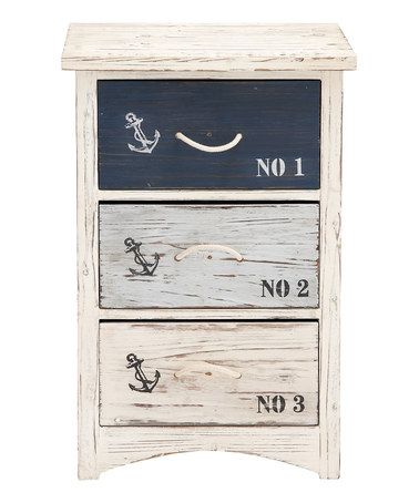 This would look great in the right kind of room. Three-Drawer Nautical Chest #zulilyfinds