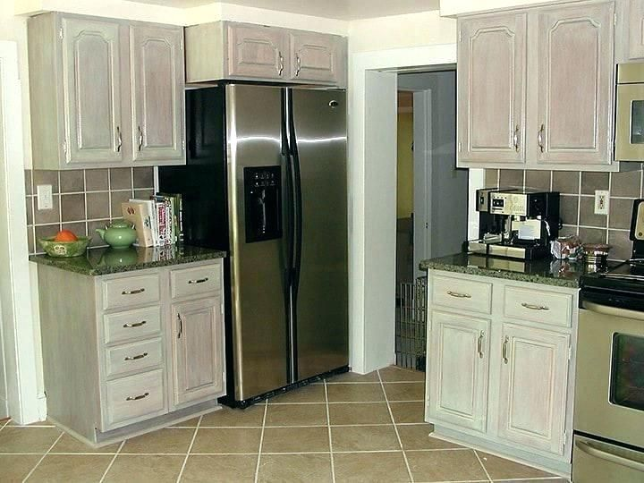 White Wash Cabinets Before And After Whitewashed Kitchen Cabinets