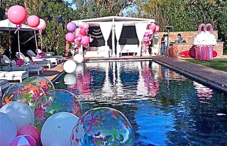 Sweet Sixteen Pool Party Ideas