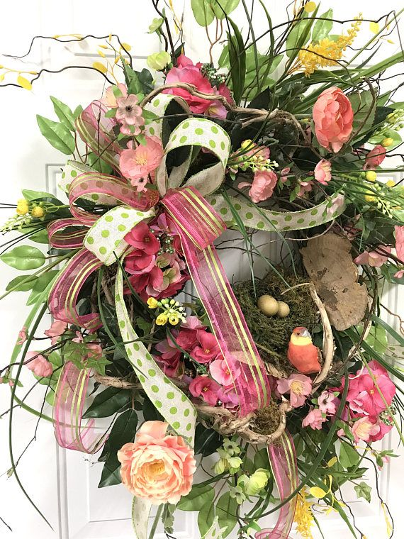 Spring Wreath For Front Door Floral Wreath For Front Door Colorful