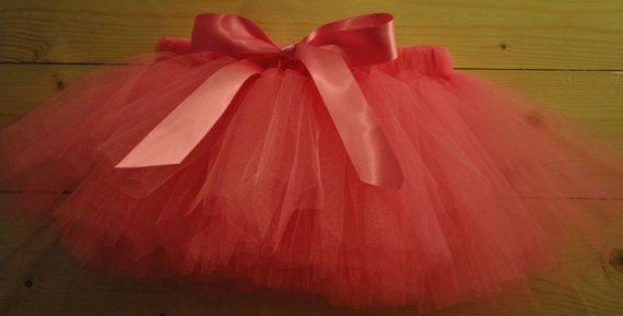 Hot Pink Tutu with Satin Bow, dressing up tutu, girls tutu, baby tutu on Etsy, £15.00