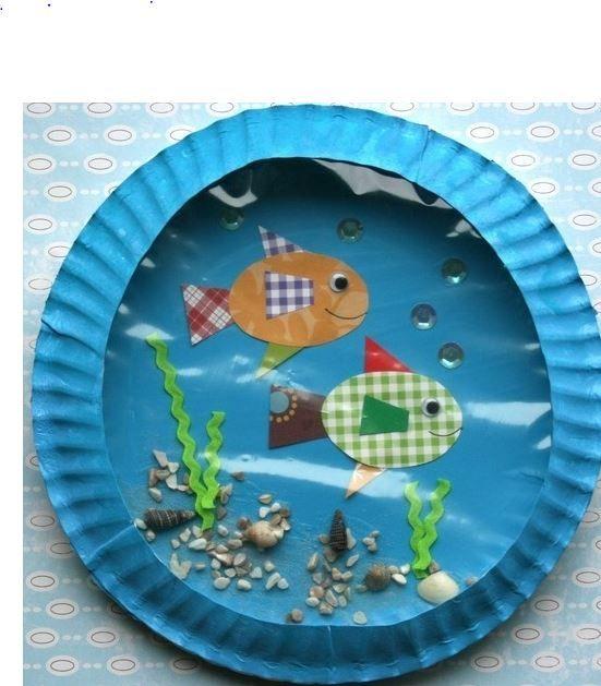 Bricolages pour enfants avec des assiettes en carton