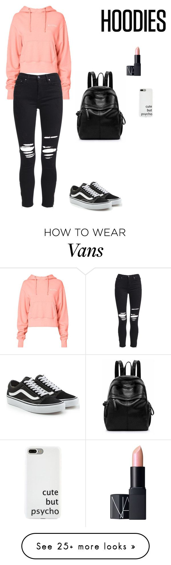 """Untitled #469"" by jesica-d-psc on Polyvore featuring RE/DONE, AMIRI, Vans, NARS Cosmetics and Hoodies"