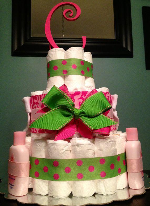 MEDIUM Custom Personalized 65 DIAPER CAKE By DiapersAndDoodads. Work Baby  ShowersBaby Girl ShowerBaby Shower GamesBabyshowerDiaper ...