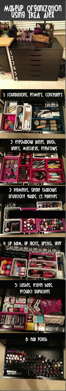 IKEA ALEX makeup storage organization